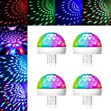 USB Mini Disco Light, 4Packs, Party Lights Ball Sound Activated Strobe, ReKeen USB Party Light DJ LED Lamps for Home Room Party Birthday DJ Bar Karaoke Xmas Wedding Show