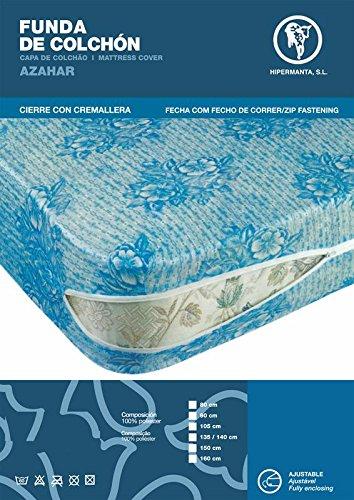 HIPERMANTA Funda de colchón en Tejido de Punto elástico Ajustable. Tamaño 90x190/200 cms