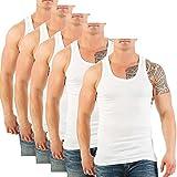 FTSD - FindTheSecretDreams 5er Pack Herren Unterhemden (Muskelshirt's/Achselhemden) Nr. 399 (5 (XS), Weiß)
