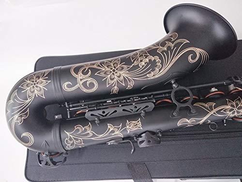 WEN Tenor Saxophon Japan Suzuki Qualitäts-Mattschwarz Musikinstrument Professionelle Spielen Alt-Saxophon mit Fall (Color : Alto Saxophone)