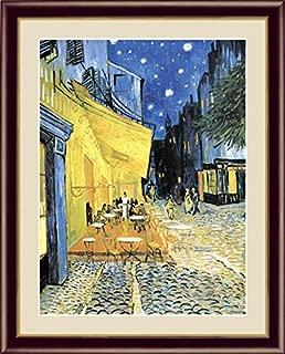 【F6】 世界の名画額 夜のカフェテラス ゴッホ 有名美術館 レプリカ モダン インテリア 壁掛け 階段飾り G4-BM051