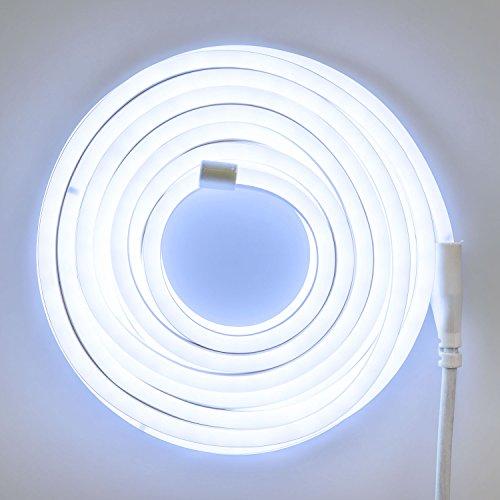 Xmas King Tube Lumineux Effet néon Flex Double Face, 16 mm. 230V, 8 m, 960 LED Blanc Froid