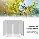 Wonderday Trampolin-Ersatznetz, Trampolin-Sicherheitsnetz, für die meisten Trampoline mit Rahmen, nur Netz, 6 feet 1.83 meters 3 legs 6 pillars