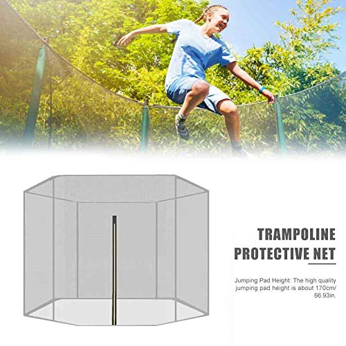 wonderday Trampoline Replacement Net Trampoline Safety Net, Trampoline Replacement Enclosure Safety Nets, Fits Most Trampolines with Frames, NET ONLY