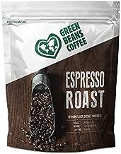 Green Beans Coffee Espresso Roast Whole Bean Coffee – Medium Dark Roast, Medium Caffeine – 100% AA Arabica Central American Origin Beans Roasted in the USA – 1 Resealable Bag (2 lb)