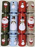 Crackers Ltd Juego de 4 galletas de Navidad reutilizables y reciclables – sombreros y bromas paquete de inicio incluido