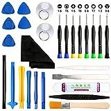 HX Kit de herramientas para reparación de teléfonos móviles, 27 piezas, apertura de herramientas de desmontaje profesional, destornillador de reparación para smartphone, iPad, pantalla PSP
