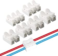 FULARR 62Pcs Premium Spring Wire Connectors, Quick Spring Connector, Electrical Cable Clamp Terminal Block Connector, LED Strip Light Wire Connecting –– 50Pcs CH2 + 12Pcs CH3