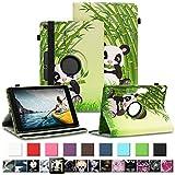 NAUC Tablet Tasche für Medion Lifetab P10710 P10610 P10603 P10606 P10602 P9702 Hülle Schutzhülle Universal Kunstleder Standfunktion 360 Drehbar, Farben:Motiv 7