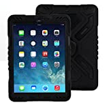 Meiya iPad 2 3 4 Case,New Shockproof Dirt Proof Survivor Extreme Army Military Heavy Duty Cover Case Kickstand for iPad 2 3 4 Children Gift 2/3/4 kids full Protection iPad Case(Black+Black)