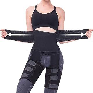 WOSTOO Kvinnor midjetränare, bantning midjeformare kroppsstöd midjetrimmer bälte med dubbel justerbar mage