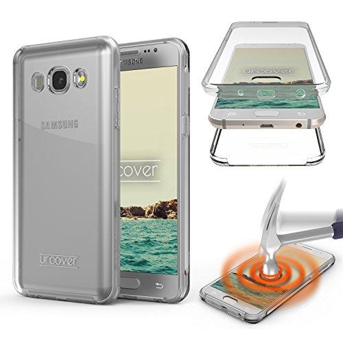Urcover Kompatibel mit Samsung Galaxy J5 (2016) Hülle I 360 Grad Rundum-Schutz Full Cover [Unbreakable Case bekannt aus Galileo] Crystal Clear Full Body Case Handy-Tasche - Transparent