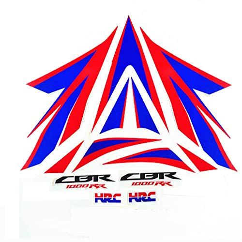 Etiquetas engomadas de la etiqueta engomada del vehículo entero de la motocicleta Pegatinas para Honda CBR1000RR 2012 2013 2014 2014 Un conjunto de etiqueta engomada completa del coche
