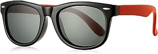 Kids Polarized Sunglasses TPEE Rubber Flexible Frame for...