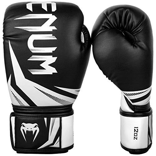 Venum Challenger 3.0 Boxhandschuhe, Schwarz/Weiß, 12 oz