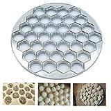 PiniceCore 37 Fori Dumpling Mold Strumenti Gnocchi Maker Ravioli di Alluminio Stampo Pelmeni Gnocchi Fare la Pasta Dumpling Tools