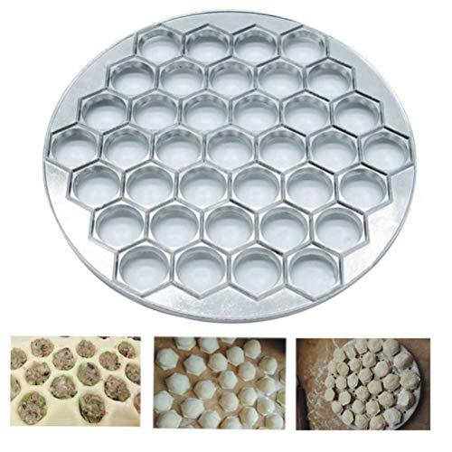37 Löcher Dumpling Mold Werkzeuge Dumplings Maker Ravioli Aluminiumform Pelmeni Dumplings Make-Gebäck Dumpling Werkzeuge