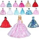 10 Pièces Robe de Soirée,Robe de Mariée Vêtements pour Poupée Noël Cadeau d'anniversaire Applicable à la poupée de 11,42 Pouces 29cm- Style Aléatoire