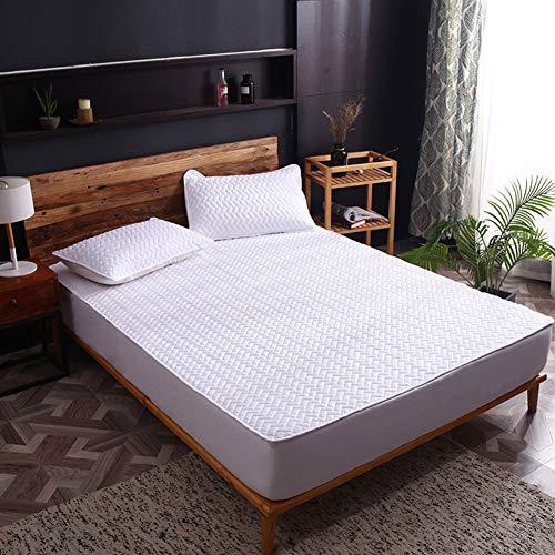 LDIW matrasbeschermer, katoenweefsel, matrasbeschermer, zacht ademend, geschikt voor 2-15 cm dikke matras 200x220cm Color7.