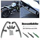Motocicleta CNC Aluminio Pasajero Trasero Asiento del Pasajero Asidero Barra de Agarre Manija Kit de riel para 2017 2018 2019 Kawasaki Z650 ZR650 Accesorios de Moto (Verde)