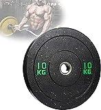 FGVDJ Placa de Peso de Goma olímpica, Placas de Discos de Fitness Profesionales de protección Ambiental, para Barras de Levantamiento de Pesas de 2 Pulgadas