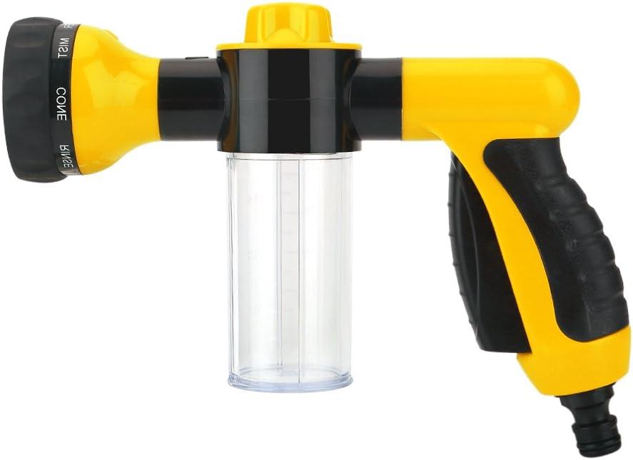 Zerodis Foam Gun Pressure Washer Car Wash Pistola de pulverización 6m(Amarillo)