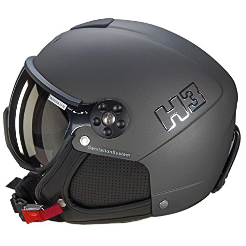 HMR - Skihelm H3 Anthrazit - Herren - Grau 42 grau