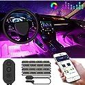 Auto LED Innenbeleuchtung, Govee RGB Auto Innenraumbeleuchtung mit APP, wasserdicht mehrfarbig Musik Auto Streifen Kit mit Zigarettenanzünder & Mikrofon für iPhone Android Smartphone