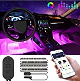 Striscia LED Auto con APP, Govee Luci LED Interne per Auto con 48 LEDs 9 Colori Multicolor...