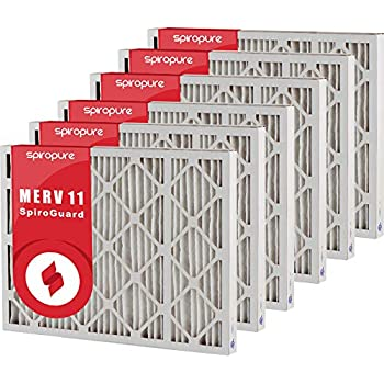 SpiroPure 20.5x26x1 MERV 11 Pleated Filter Air Filters 6 Pack Made in USA