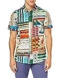 Desigual CAM_Adrian Camiseta, Multicolor, XL para Hombre