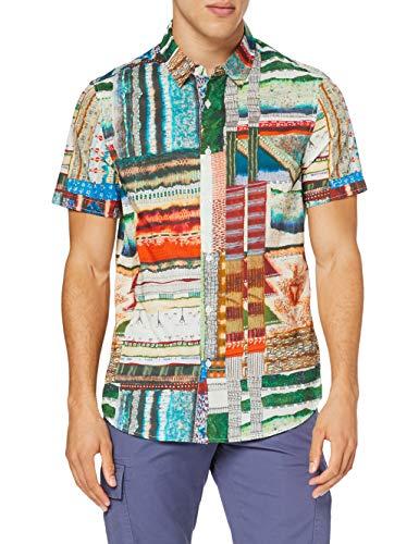 Desigual CAM_Adrian Camiseta, Multicolor, L para Hombre