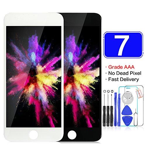 srjtek Voor iPhone 7(4.7 Inch) Scherm Vervanging LCD Display 3D Touch Digitizer Panel Onderdelen Met Reparatie Gereedschap Kits, 4.7 INCH, Zwart