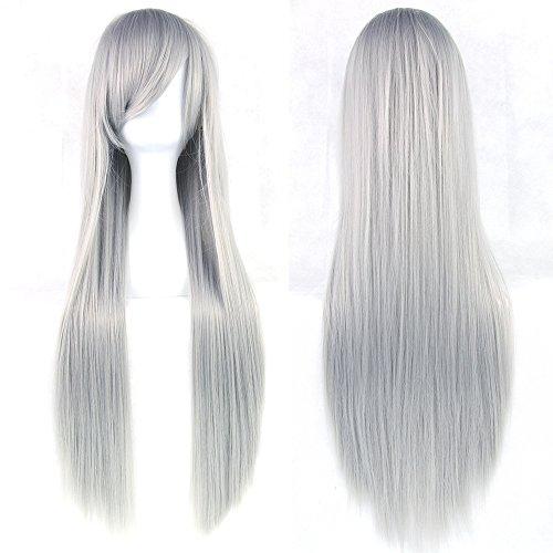 Pelucas para mujer Disfraces, peluca cosplay Color largo y liso peluca de...