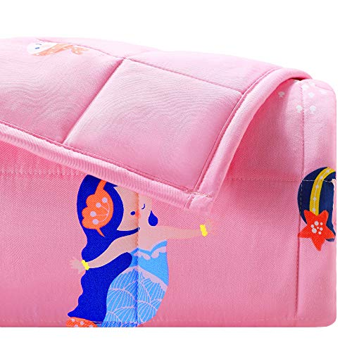 Joyching Kid Weighted Blanket 3lbs, Cooling Weighted Blanket for Toddler, 1200 Soft Cotton with...