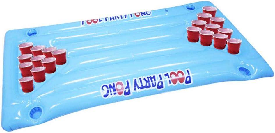 ZChun hinchable Beer Pong Piscina Float juego hinchable colchón de aire cama Beer Pong juego mesa de billar fiesta piscina agua potable flotante