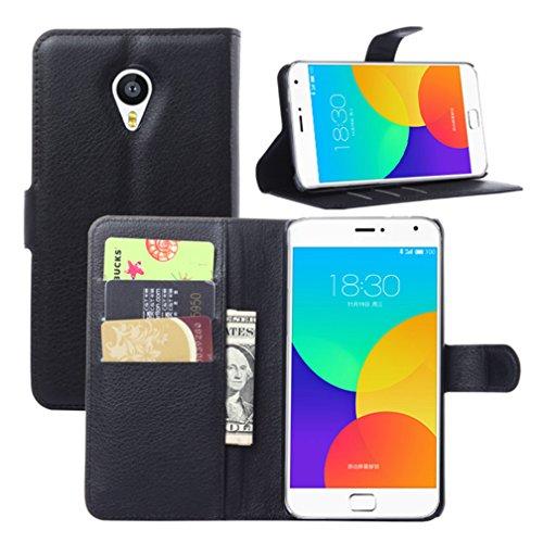 NEKOYA MEIZU MX4 Pro Hülle,MEIZU MX4 Pro Lederhülle, Handyhülle im Brieftasche-Stil für MEIZU MX4 Pro.Schutzhülle mit [TPU Innenschale] [Standfunktion] [Kartenfach] [Magnetverschluss]