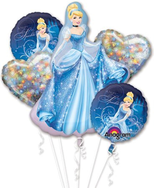 grandes ofertas Cinderella Balloon Bouquet Bouquet Bouquet - Cinderella Balloons - 5 Count by Anagram  ventas en línea de venta