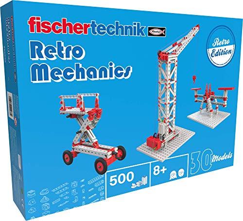 fischertechnik 559885 Profi Modellbaukasten Retro Mechanics-das Mechanik, Grundlagen der Technik zu entdecken – 30 Modelle Kran, die Spielzeug Brücke-für Kinder ab 8 Jahren