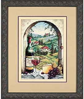 Dimensions Gold Collection Counted Cross Stitch Kit, Dreaming of Tuscany, 18 Count Ivory Aida, 5'' x 7''