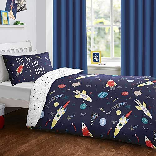 Bedlam Space - Juego de Funda nórdica Que Brilla en la Oscuridad, Polycotton, Multicolor, Infantil