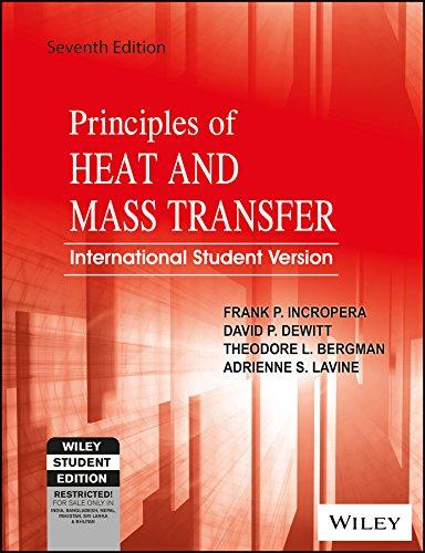 Principles of Heat and Mass Transfer, ISV