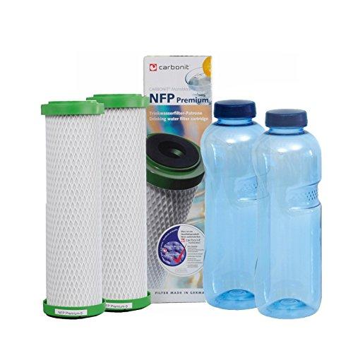 NFP-Premium Carbonit Paket 3 - GRATIS: 2 TRITAN-Flaschen - frei von Bisphenol-A