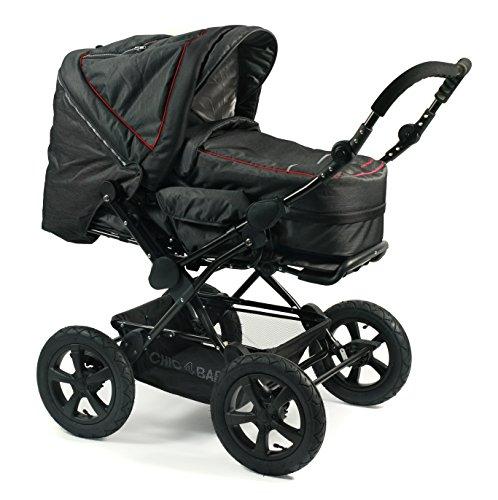 CHIC 4 BABY 100 20 Kombi-Kinderwagen VIVA, Jeans, anthrazit