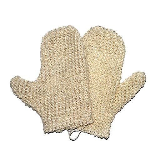 Classic Sisal Duschschwamm, Naturfaser-Handschuh, weich, glatt, erneuerbare Haut, Anti-Aging, umweltfreundlich, 2 Stück