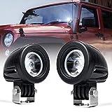 Xprite 10 Watt 2 inch CREE High Power Off-Road LED Spot Lights for Motorcycle Off-Road Vehicles Pickup Truck UTV ATV - 2 Pack