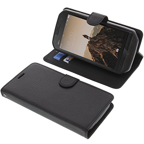 foto-kontor Tasche für Doogee S30 Book Style schwarz Schutz Hülle Buch