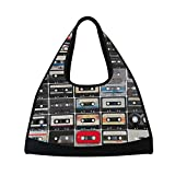 TIZORAX Collection de Cassettes Audio de Voyage Sac de Sport Sports Sac de Sport Sac à Bandoulière