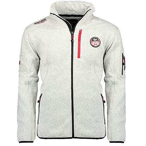 Anapurna Upward Men Fleece Langarm Full Zip Regular Fit Zwei Taschen WT1361H-Weiß-XL