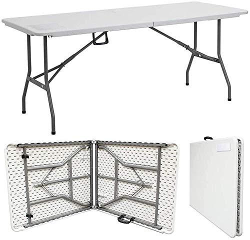 ZLALF Tragbarer Klapptisch Für 6 Personen Picknicktisch Im Freien Für Küche/Haus/Garten/Event/Partytisch